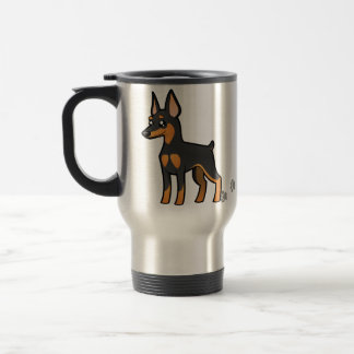 Cartoon Miniature Pinscher / Manchester Terrier Stainless Steel Travel Mug