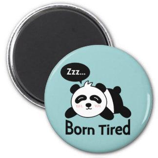 Cartoon of Cute Sleeping Panda 6 Cm Round Magnet