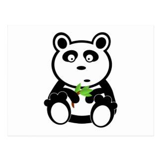 Cartoon Panda Bear Postcard