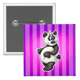 cartoon panda bear Square Button