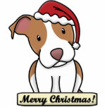 Cartoon Pit Bull Christmas Ornament Photo Sculpture Decoration