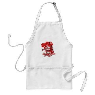 cartoon style anticute wild dog bite chain standard apron