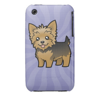 Cartoon Yorkshire Terrier (short hair no bow) Case-Mate iPhone 3 Cases