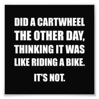 Cartwheel Like Riding Bike Art Photo