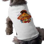 Casino illustration with gambling elements sleeveless dog shirt