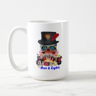 Casino Party Any Event Aces and Eights View Notes Basic White Mug