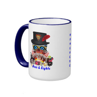 Casino Party Any Event Aces and Eights View Notes Ringer Mug