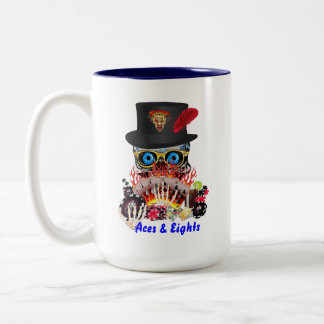 Casino Party Any Event Aces and Eights View Notes Two-Tone Mug