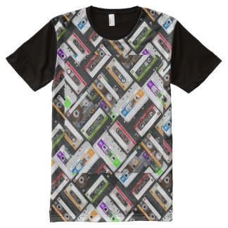 Cassette Tapes All Over All-Over Print T-Shirt
