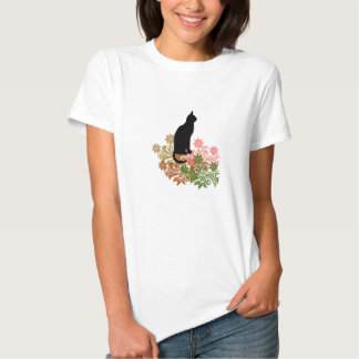 Cat and flower tshirt