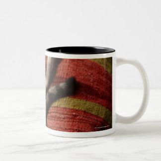 Cat Lounging Two-Tone Mug