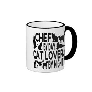 Cat Lover Chef Ringer Mug
