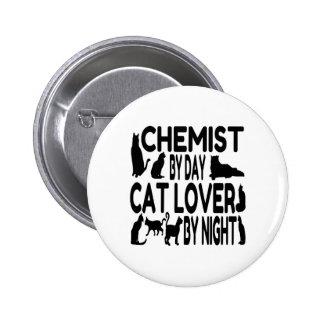 Cat Lover Chemist 6 Cm Round Badge