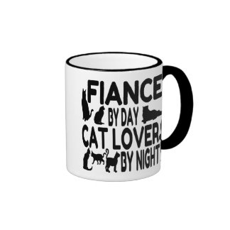 Cat Lover Fiance Ringer Mug