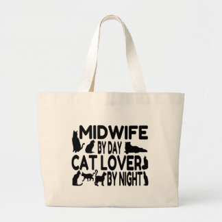 Cat Lover Midwife Jumbo Tote Bag