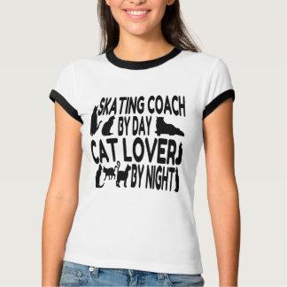 Cat Lover Skating Coach Tshirts