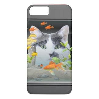 Cat Peering in Fish Tank iPhone 7 Plus Case