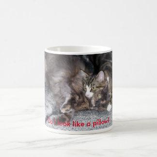 Cat pillow mug