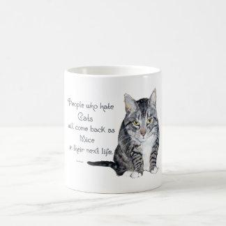 Cat Wisdom - People who hate Cats Basic White Mug