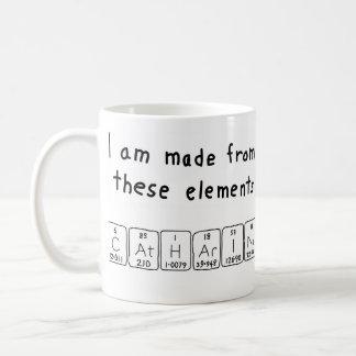 Catharina periodic table name mug