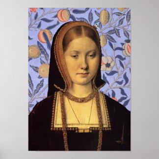 Catherine of Aragon Queen of  England Portrait Poster