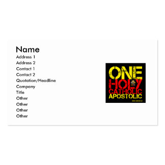 Catholic Business card
