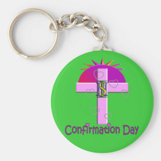 Catholic Confirmation Day Gifts for Kids Basic Round Button Key Ring