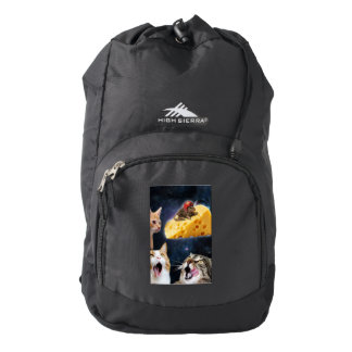 Cats and the mouse on the cheese backpack