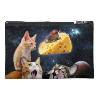Cats and the mouse on the cheese travel accessories bags