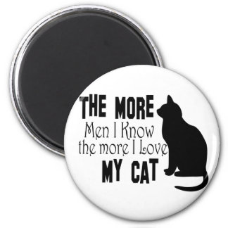 Cats Are Better than Men 6 Cm Round Magnet