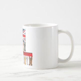Cats Passing Out Congratulations Basic White Mug