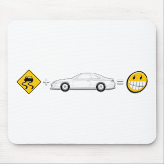 Caution Sign, Drift Silvia S14 is fun Mouse Pad