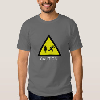 Caution: The Swift Exit Man! T-shirt