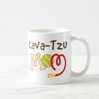 Cava-Tzu Dog Breed Mom Gift Basic White Mug
