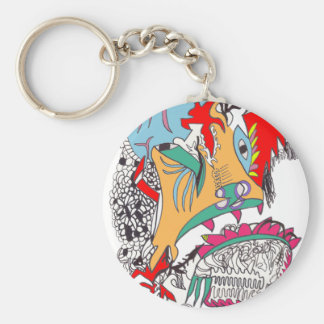 Cavernal Carnival Basic Round Button Key Ring
