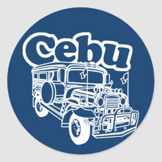 Cebu Jeepney Round Sticker