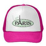 Celadon Green Polka Dots; Paris Cap