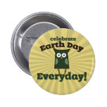 Celebrate Earth Day Everyday Owl 6 Cm Round Badge