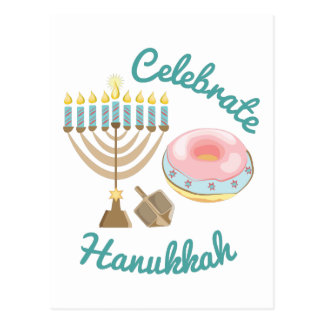 Celebrate Hanukkah Postcard