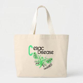 Celiac Disease BUTTERFLY 3.1 Jumbo Tote Bag