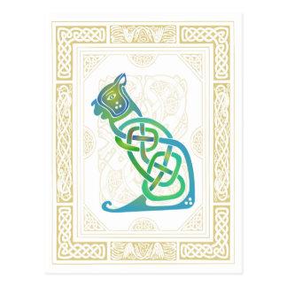 Celtic Cat Postcard