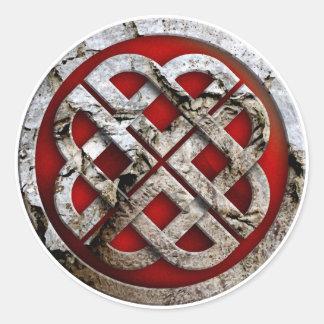 celtic knot round sticker