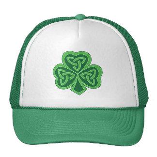 Celtic Knot Shamrock Cap