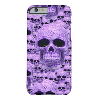Celtic purple skull collage barely there iPhone 6 case