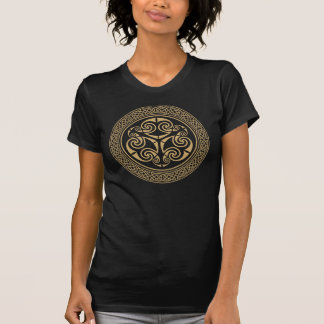Celtic Spirals with Celtic Knot Border Tee Shirt