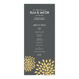 Ceremony Program // Posh Petals // Sunshine 10 Cm X 24 Cm Invitation Card