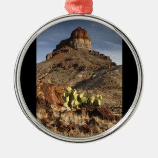 Cerro Castellan at Sunset Silver-Colored Round Decoration