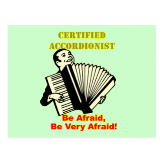 Certified Accordionist Postcard