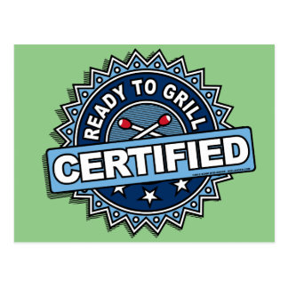 Certified Ready to Grill Postcard