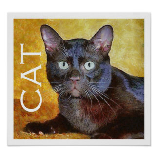 Cezanne's cat poster